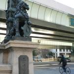 大石まどか 国道1号線の起点、日本橋に立つ! 新曲「命、燃えて」PR
